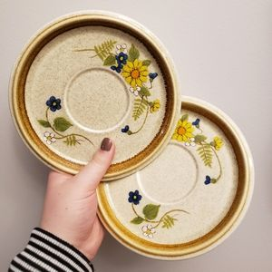 two vintage plates